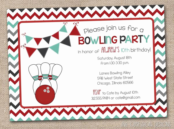 Free Bowling Invitation Template Inspirational 54 Best Printable Birthday Invitation Images On Pinterest