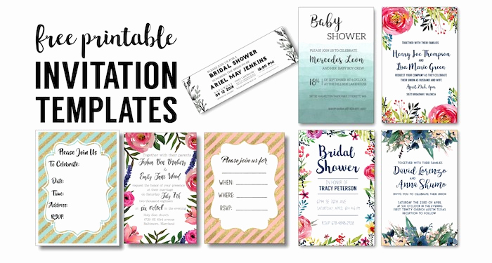 Free Bridal Shower Invitation Printables Awesome Party Invitation Templates Free Printables Paper Trail