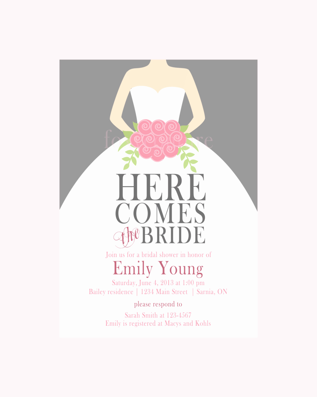 Free Bridal Shower Invitation Printables Beautiful Bridal Shower Invitation Templates