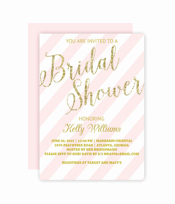 Free Bridal Shower Invitation Printables Beautiful Glitter and Blush Bridal Shower Invitation Chicfetti