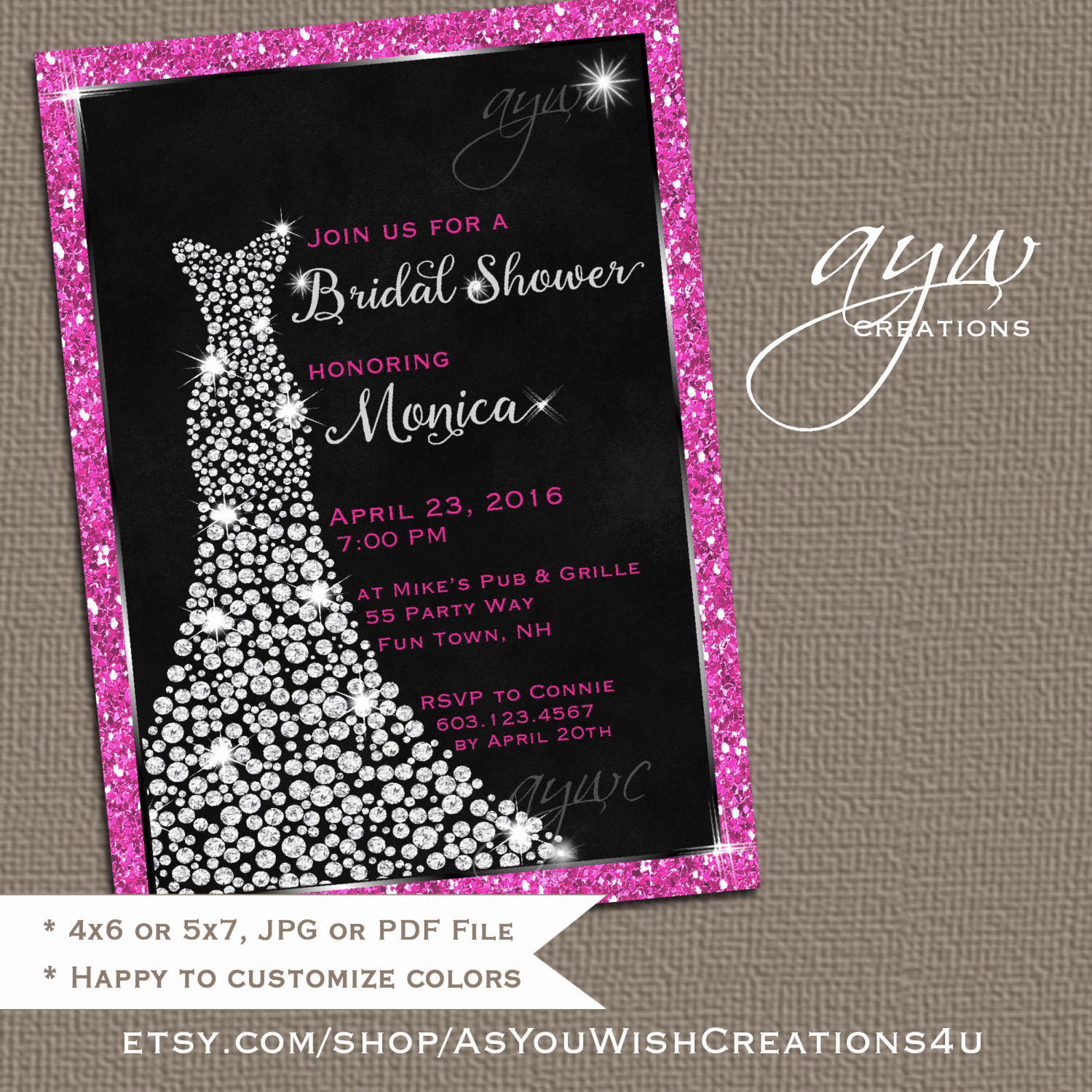 Free Bridal Shower Invitation Printables Beautiful Wedding Dress Bridal Shower Invitation Printable Bridal Shower