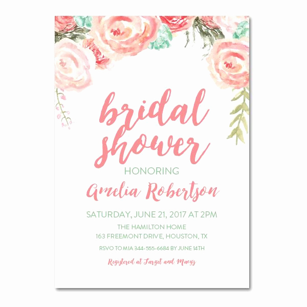 Free Bridal Shower Invitation Printables Inspirational Editable Pdf Bridal Shower Invitation Diy – Pink Mint