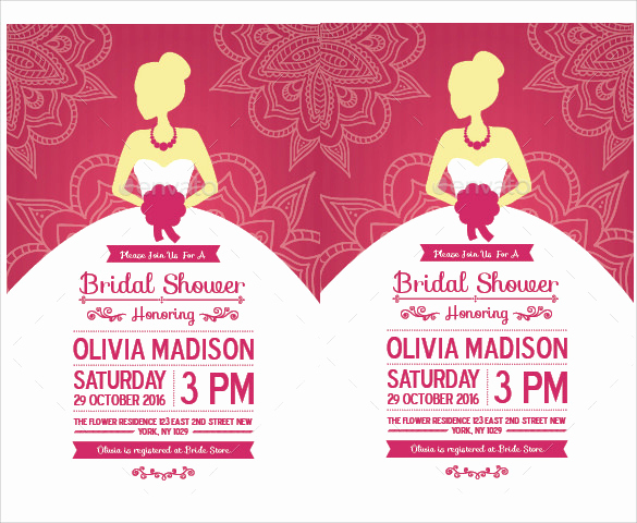 Free Bridal Shower Invitation Printables Luxury Sample Bridal Shower Invitation Template 25 Documents