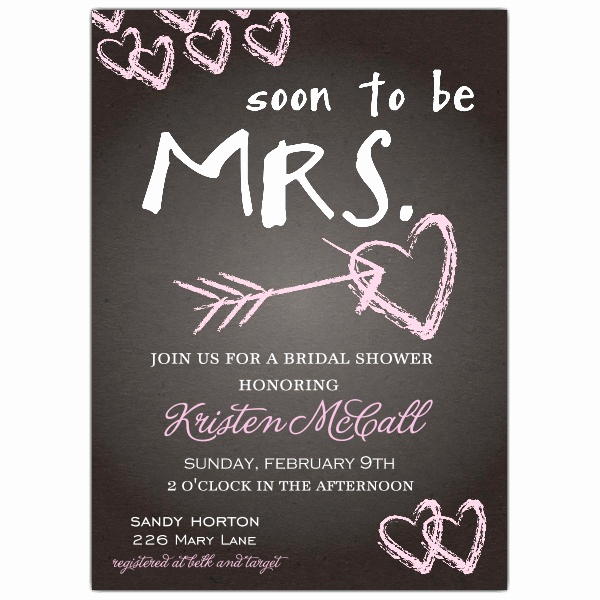 Free Bridal Shower Invitation Templates Beautiful Chalkboard Love Bridal Shower Invitations