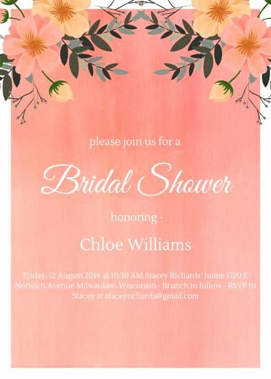 Free Bridal Shower Invitation Templates Beautiful Customize 522 Bridal Shower Invitation Templates Online