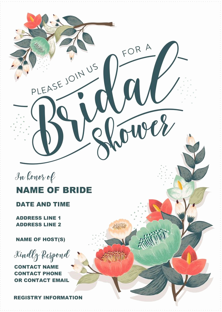 Free Bridal Shower Invitation Templates Fresh Best 25 Diy Wedding Shower Invitations Ideas On Pinterest