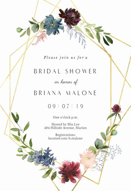 Free Bridal Shower Invitation Templates Inspirational Bridal Shower Invitation Templates Free