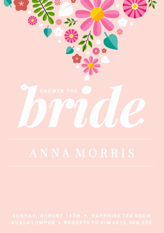 Free Bridal Shower Invitation Templates Lovely 19 Diy Bridal Shower and Wedding Invitation Templates