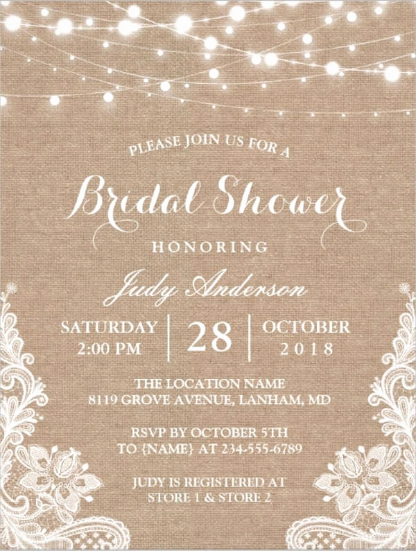 Free Bridal Shower Invitation Templates New Burlap Bridal Shower Invitations Cobypic