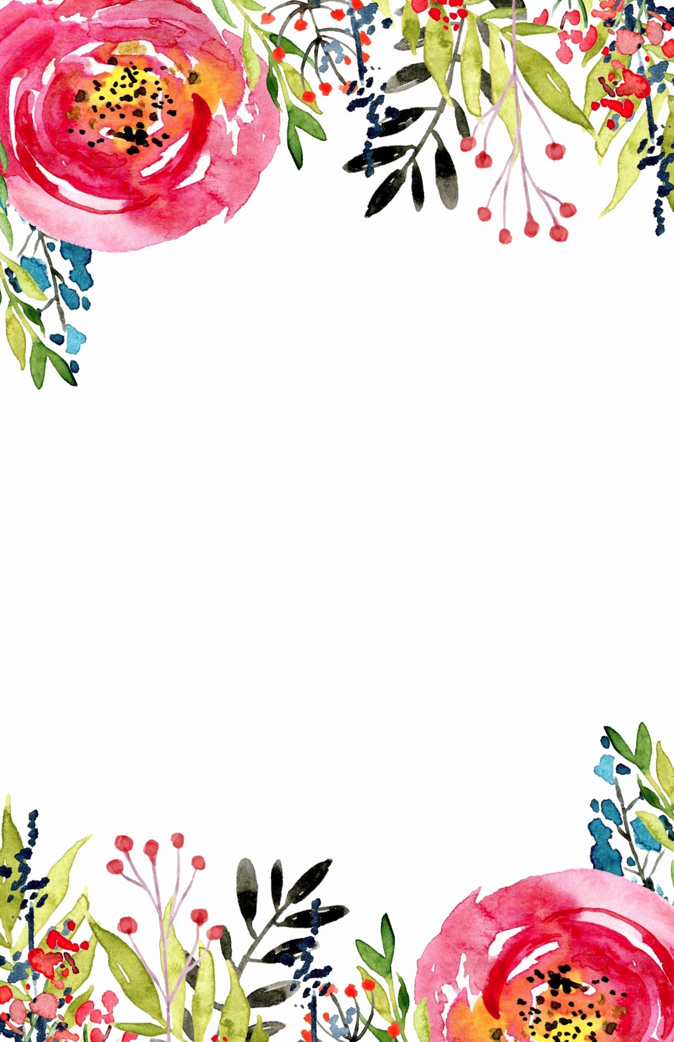 Free Bridal Shower Invitation Templates New Floral Invitation Template Free Printable