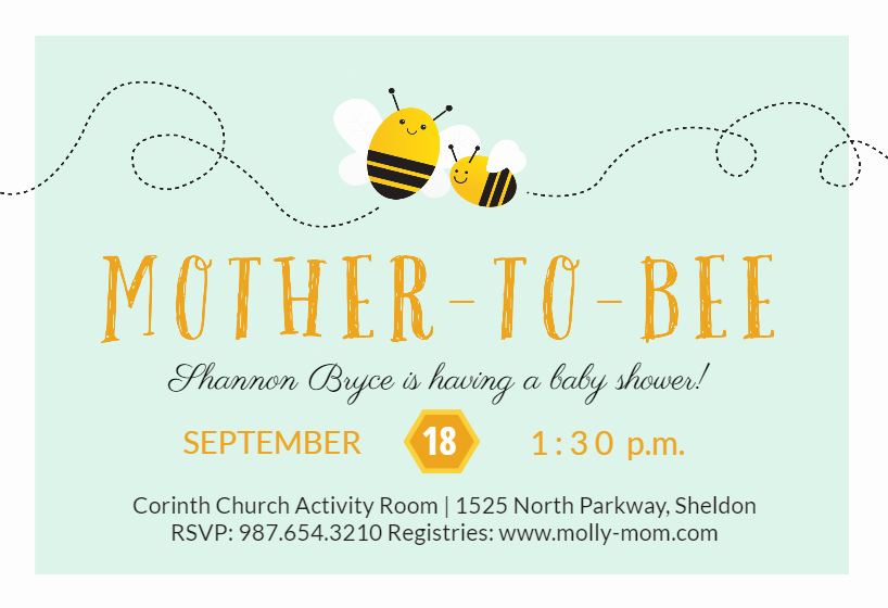 Free Bumble Bee Invitation Template Awesome Mother to Bee Baby Shower Invitation Template Free