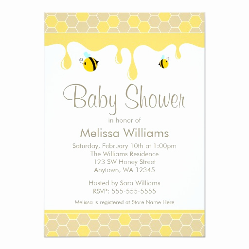 Free Bumble Bee Invitation Template Beautiful Bumble Bee Honey Baby Shower Invitations