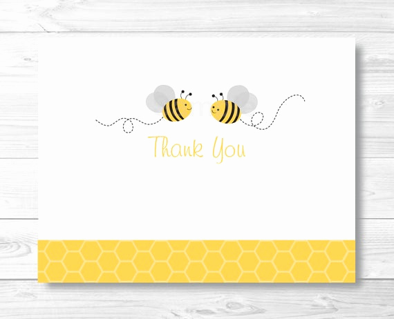 Free Bumble Bee Invitation Template Best Of Bumble Bee Thank You Card Template Folded Card Template