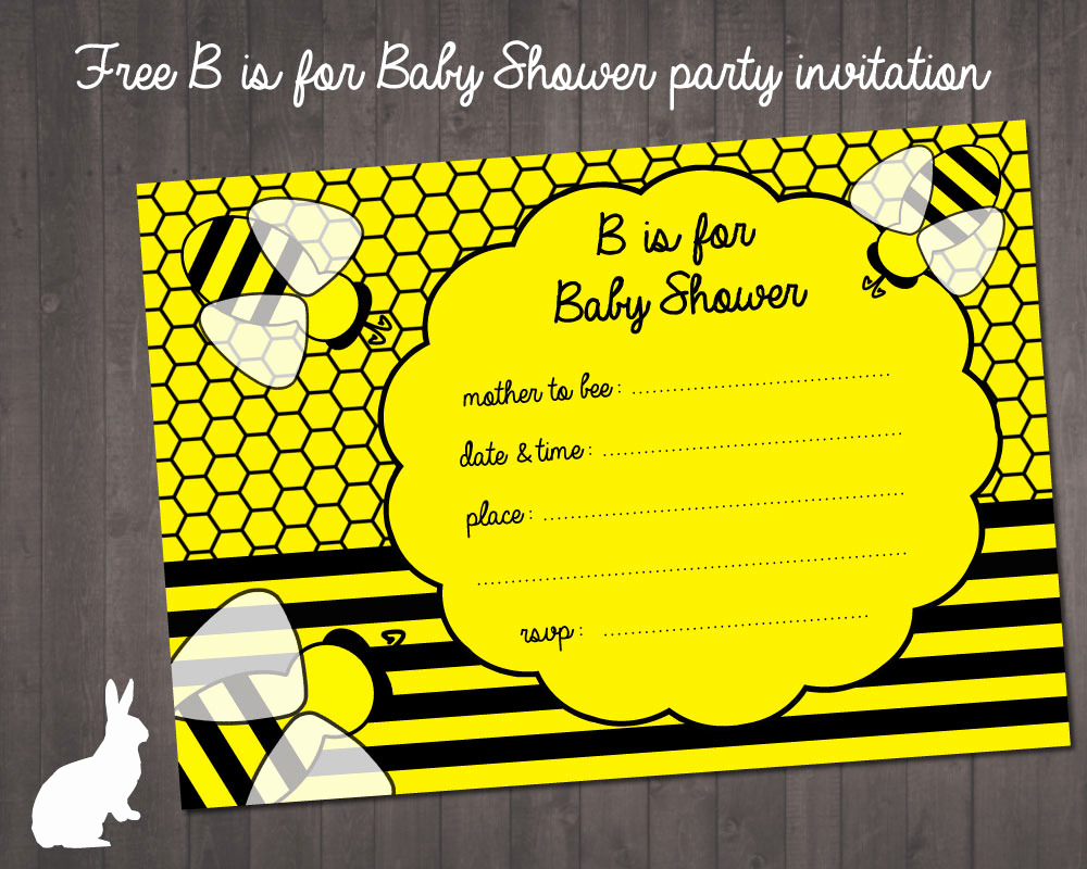 Free Bumble Bee Invitation Template Best Of Free Bumble Bee Baby Shower Invitation