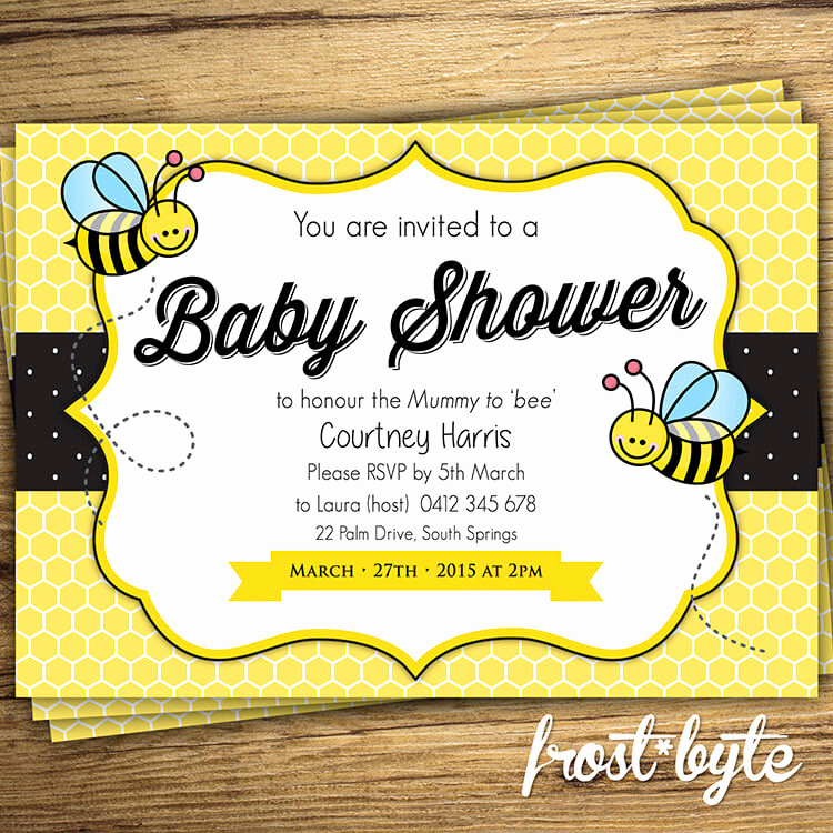 Free Bumble Bee Invitation Template Elegant Bumblebee Baby Shower Ideas Baby Ideas
