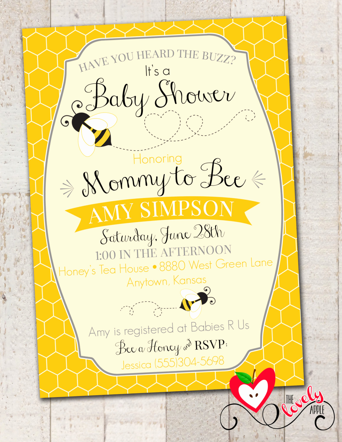 Free Bumble Bee Invitation Template Fresh Bumble Bee Baby Shower Invitation Printable by thelovelyapple