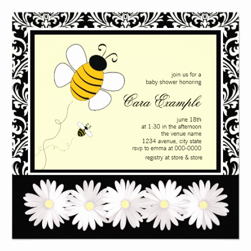 Free Bumble Bee Invitation Template Fresh Bumble Bee Baby Shower Invitations