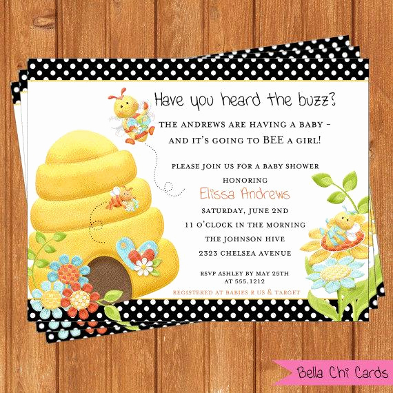 Free Bumble Bee Invitation Template Fresh Instant Download 5 X 7 Baby Shower Bumble Bee by Bellachicards