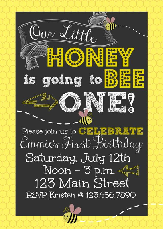 Free Bumble Bee Invitation Template Luxury Items Similar to First Birthday Honey Bee Printable 5 X 7