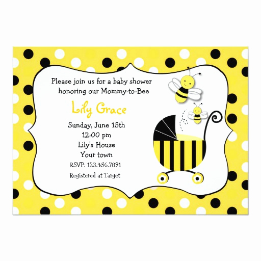 Free Bumble Bee Invitation Template New Bumble Bee Baby Shower Invitations