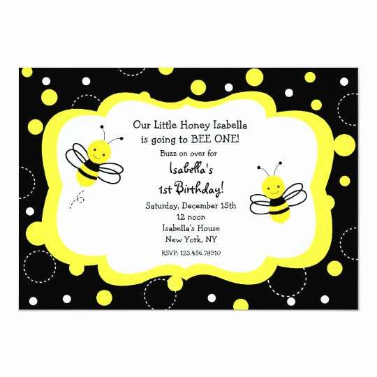Free Bumble Bee Invitation Template New Bumble Bee Birthday Party Invitations Honey