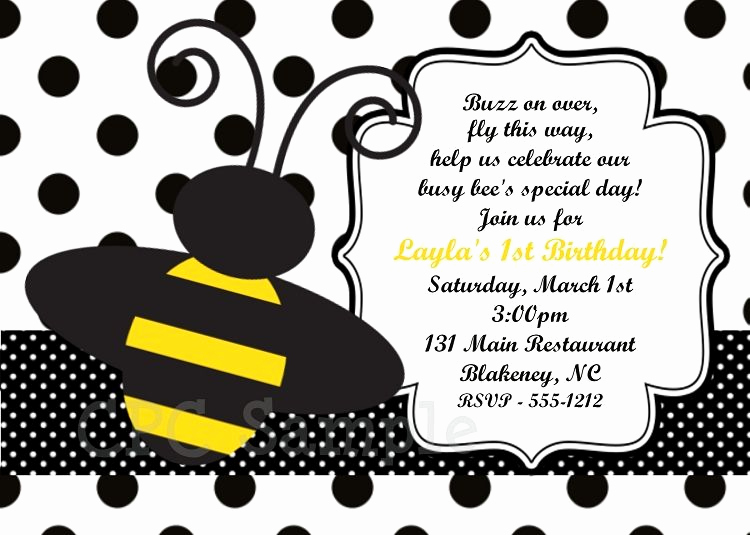 Free Bumble Bee Invitation Template Unique Free Free Template Bumble Bee Birthday Party Invitations