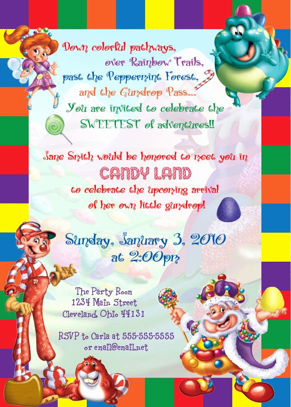 Free Candyland Invitation Template Awesome 15 Best Ideas About Candy Invitations On Pinterest