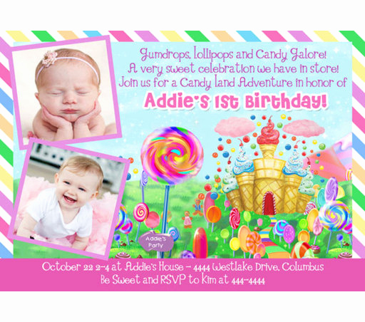Free Candyland Invitation Template Awesome Candyland Birthday Invitations Ideas – Bagvania Free