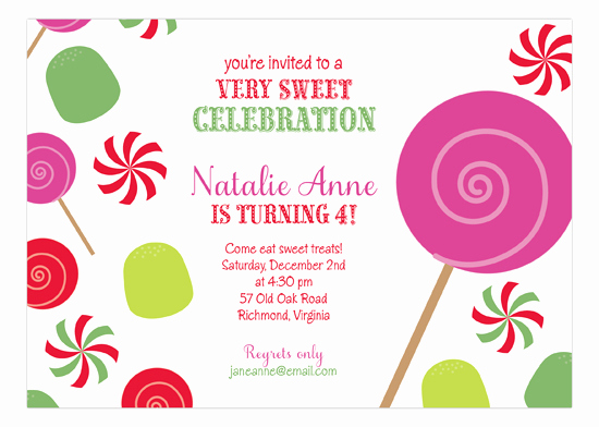 Free Candyland Invitation Template Awesome Christmas Candyland Invitation
