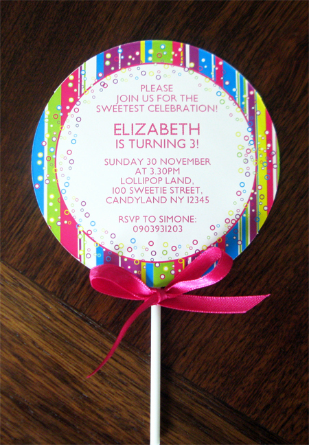 Free Candyland Invitation Template Awesome Lollipop Invitation New In My Candyland Printable Collection