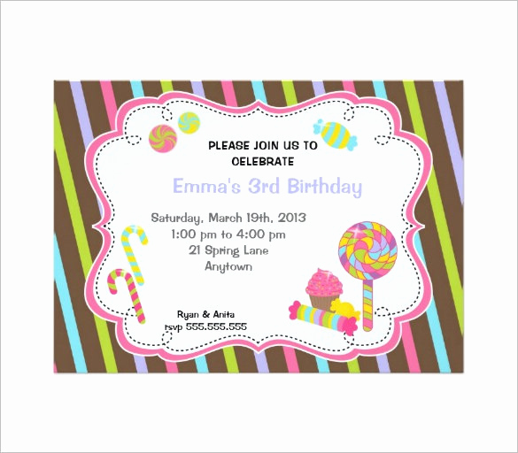 Free Candyland Invitation Template Best Of 14 Wonderful Candyland Invitation Templates Psd Ai