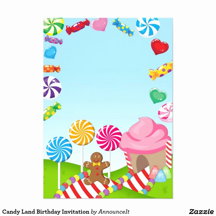 Free Candyland Invitation Template Elegant Best 25 Candy Land Invitations Ideas On Pinterest