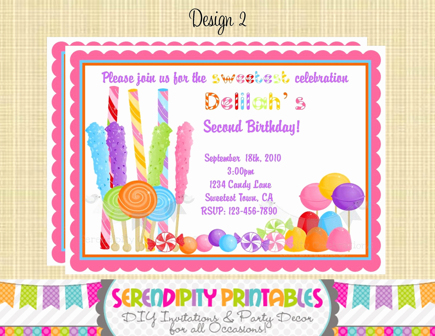 Free Candyland Invitation Template Inspirational Candyland Invitation Use for Birthday Baby Shower Birth