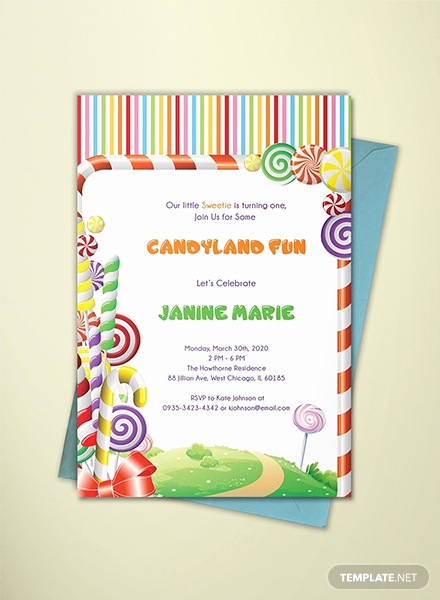 Free Candyland Invitation Template Inspirational Free Movie Night Invitation Template In Adobe Shop