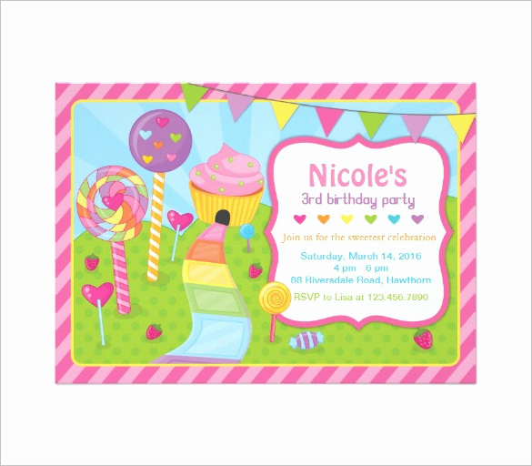 Free Candyland Invitation Template Lovely 14 Wonderful Candyland Invitation Templates Psd Ai