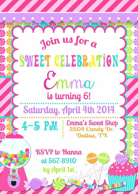 Free Candyland Invitation Template Lovely 25 Unique Candy Invitations Ideas On Pinterest