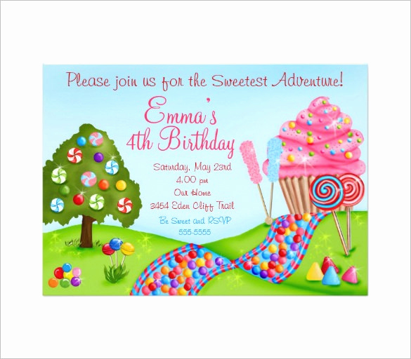 Free Candyland Invitation Template New 14 Wonderful Candyland Invitation Templates Psd Ai
