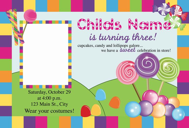Free Candyland Invitation Template New Best 25 Candy Land Invitations Ideas On Pinterest