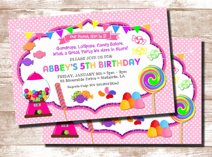 Free Candyland Invitation Template Unique Candy theme Invitation Candyland Invitation Candy Party