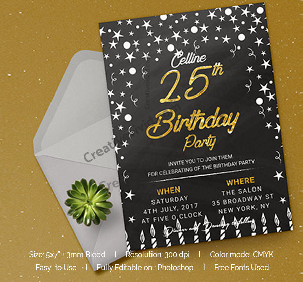 Free Chalkboard Invitation Templates Awesome Chalkboard Invitation Template 27 Free & Premium Download