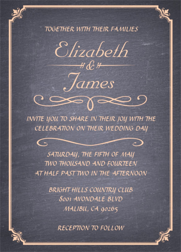 Free Chalkboard Invitation Templates Beautiful 26 Chalkboard Wedding Invitation Templates – Free Sample