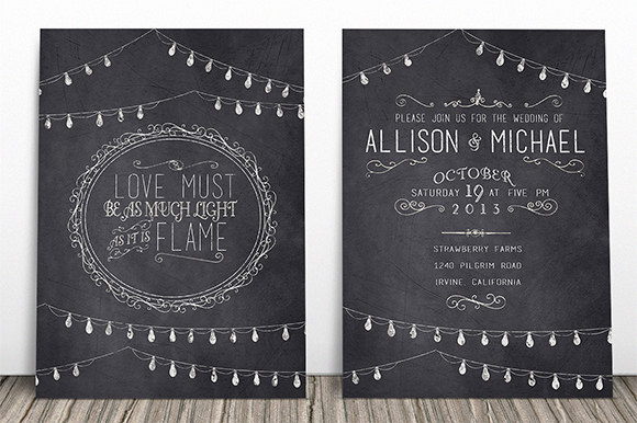 Free Chalkboard Invitation Templates Beautiful Chalkboard Invitation Template 43 Free Jpg Psd