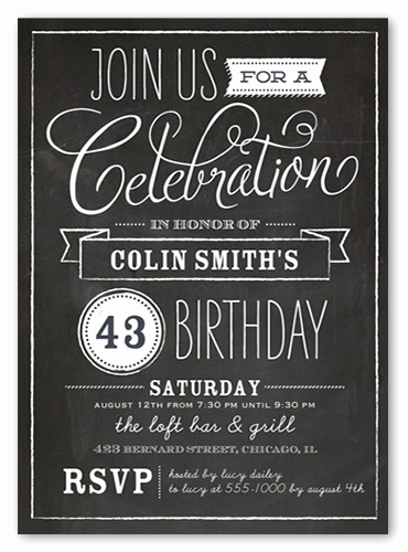 Free Chalkboard Invitation Templates Beautiful Chalkboard Wishes Surprise Birthday Invitation