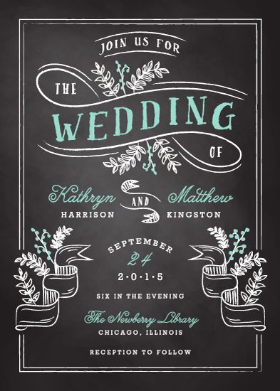 Free Chalkboard Invitation Templates Elegant Chalkboard Wedding Invitation Templates
