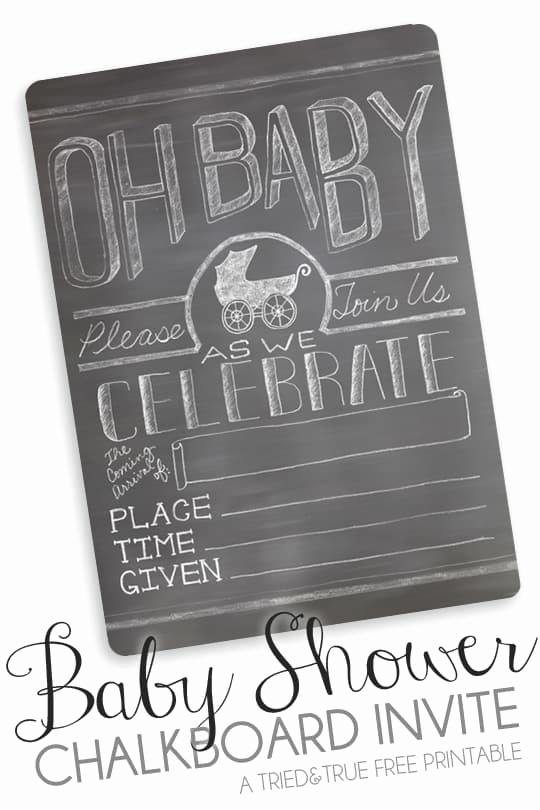 Free Chalkboard Invitation Templates Lovely Free Printable Chalkboard Baby Shower Invite Tried & True