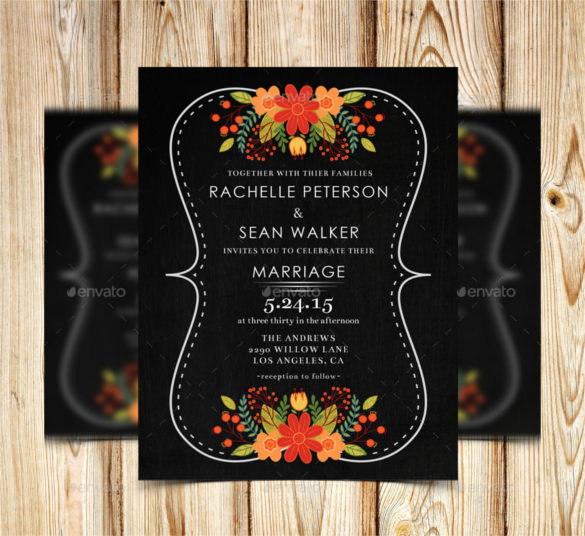 Free Chalkboard Invitation Templates New 26 Chalkboard Wedding Invitation Templates – Free Sample