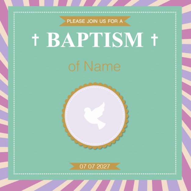 Free Christening Invitation Templates Awesome Baptism Invitation Template Vector