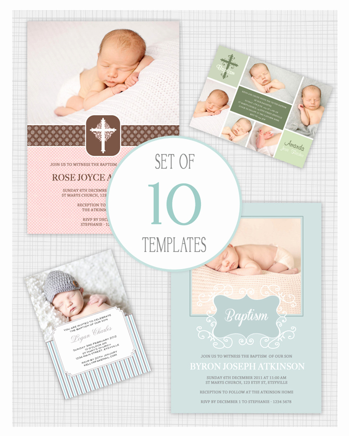 Free Christening Invitation Templates Beautiful 10 Psd Baptism and Christening Invitation Templates Mixed