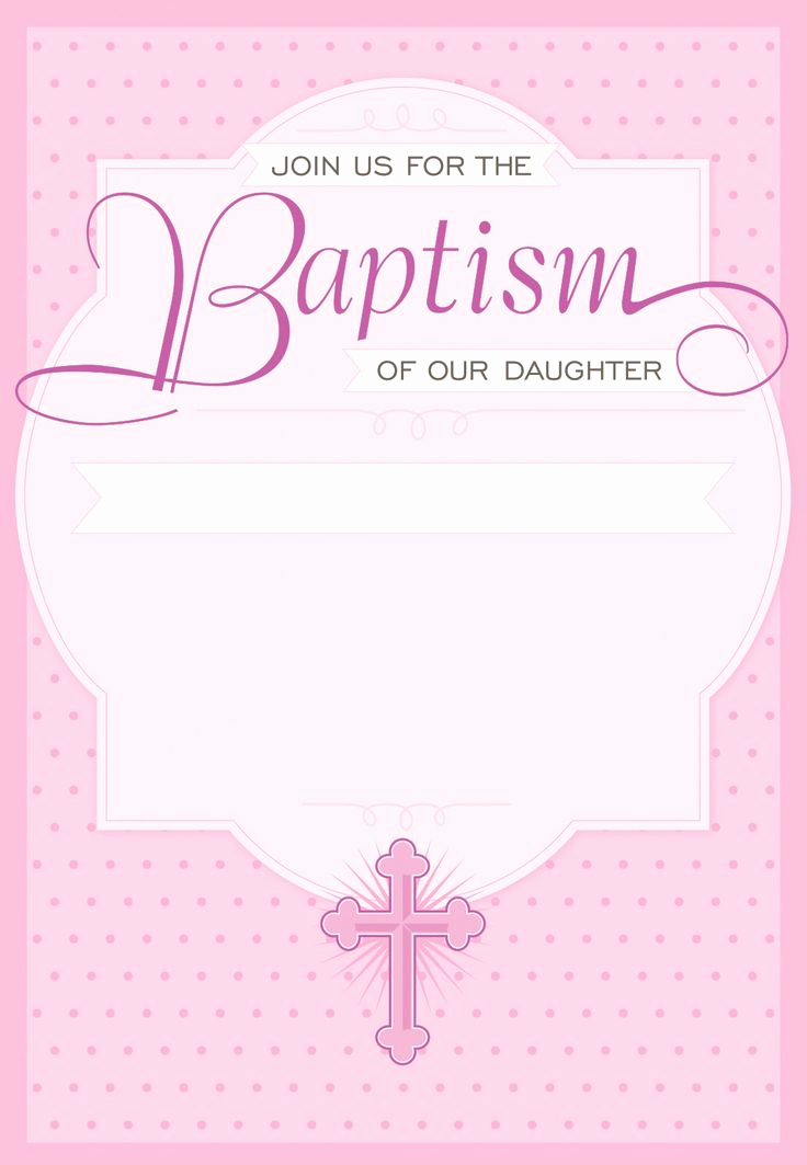 Free Christening Invitation Templates Best Of Dotted Pink Free Printable Baptism & Christening