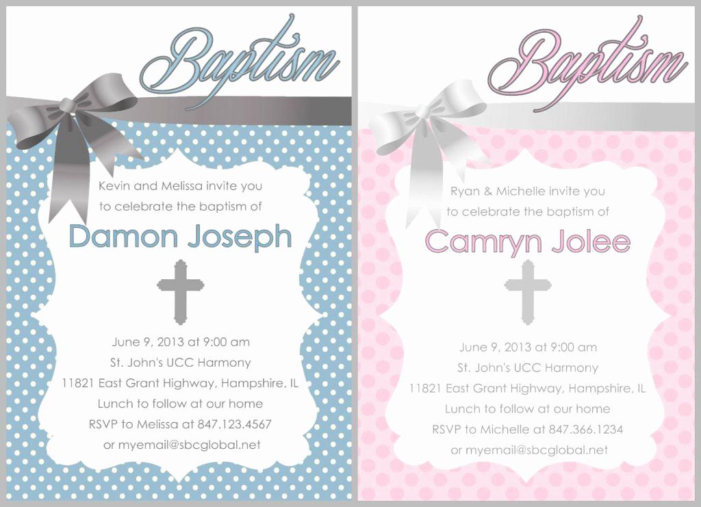 Free Christening Invitation Templates Fresh Baptism Invitation Free Baptism Invitations to Print